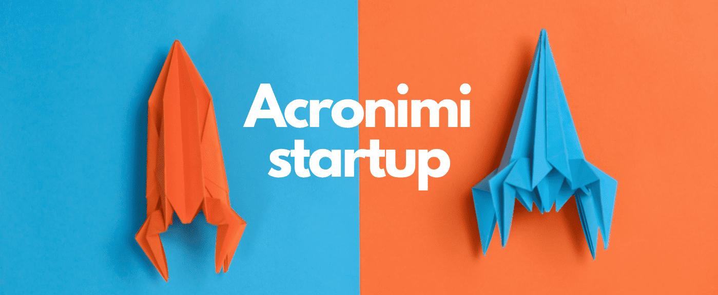 acronimi startup